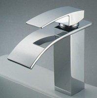 Free Shipping !Brass Waterfall faucet,luxury Basin faucet ,Bathroom mix faucet,Big flow Bath crock bibcock.1pcs/lot