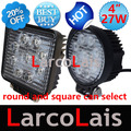 "20% Off 2pcs 4"" inch 27W 9 LED Working Light Spot Flood Lamp Motorcycle Tractor Truck Trailer SUV JEEP Offroads Boat 12V 24V 4WD"