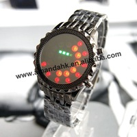 100pcs/lot,fashion LED watch,wrist watch,mirror face stainless steel ball style,2color available,