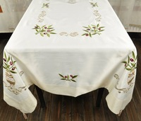"""52X52""""(130x130cm)  GREECE Embroidery Olive tablecloth,FREE SHIPPING!  8359A"""