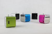 NEW brand 50pcs TD-V26 Portable USB TF Card Radio Mini Digital Speaker with stylish design Free Shipping