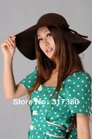 Special 6pcs Women Winer Wool Floppy Brim Hats Ladies Big Wool Dome Hats Style Cloche Cap Spring Felt Hat Bowler Caps Headwear