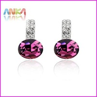 free shipping wholesale price earrings /Mixed batch/no MOQ/Round Earrings/made of  Crystal#81735