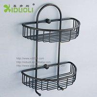 Xiduoli Free shipping Antique Bathroom Corner Two Dual Tier Shelf XDL-1249 Chocolate 2014 new