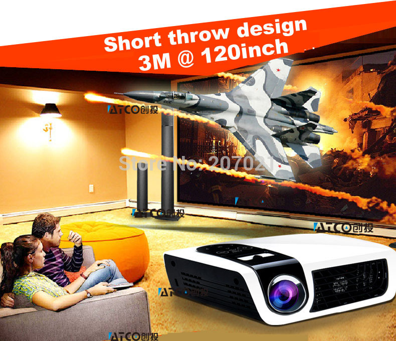 New technology!!! DLP+ Osram LED lamp 50,000hrs Full hd dlp projector 1080p Built-in Android 4.0 Wifi iphone projector with RJ45(China (Mainland))