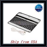 Free Shipping + Wholesale USB Bluetooth 2.0 Keyboard For iPad 2 Black Ship from USA-87002365