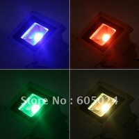 Free Shipping 10W 85V-265V Color RGB Flash LED Flood light Outdoor Floodlight