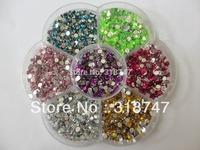Free shipping 5000pcs 3mm Mix Color Rhinestone Beautiful Decoration and DIY 003001008