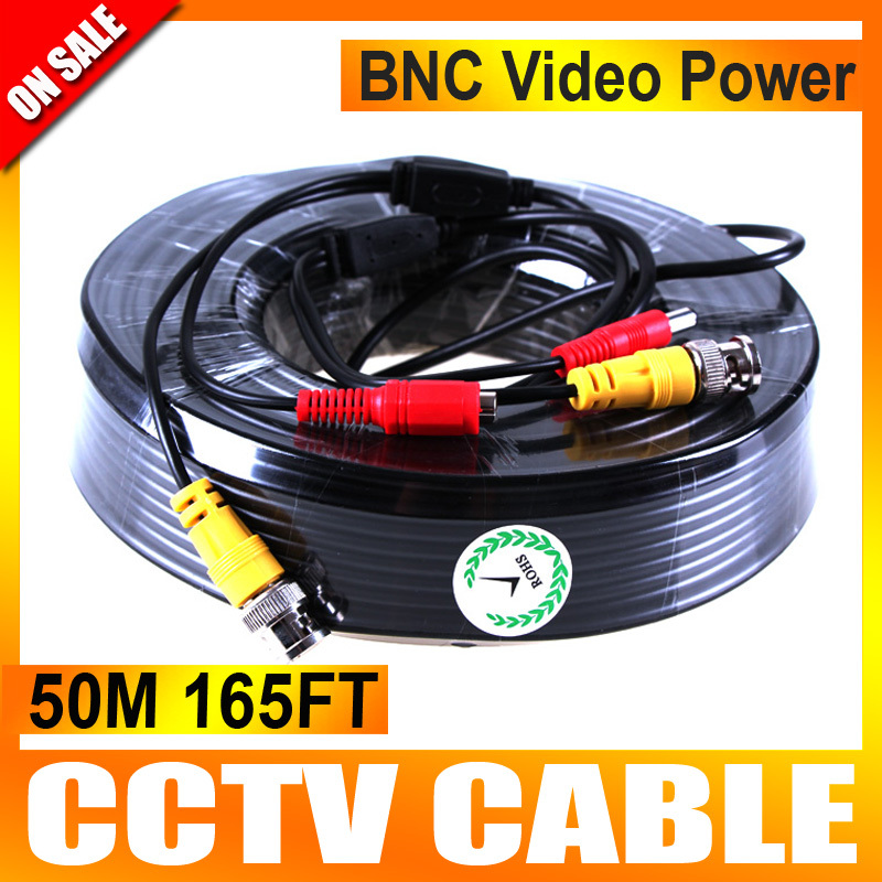 Аксессуары для видеонаблюдения UNITOPTEK 50 50 CCTV BNC CCTV CCA-50M bnc dc connectors cctv camera extension cable 50m