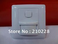 Free Shipping Wholesale 10 pcs/ lot,  3 Wires Wall Mount IR Motion Sensor PIR Sensor Switch