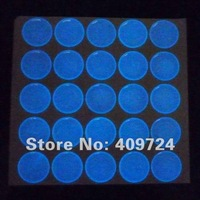 """Free Shipping: """"2000 pcs/lot"""" Mixed 1 Inch Round Blue and Green Glowing Epoxy Sticker For Jewelry Making"""
