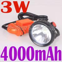 Free Shipping!!  High Quality 3W KL4LM 15000/2500 lux Mining Cap Headlamp Lighting