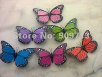 Promotion!!! Creative PVC Magnet Artificial butterfly (pink blue red green orange fushia yellow purple color)DHL FREE SHIPPING