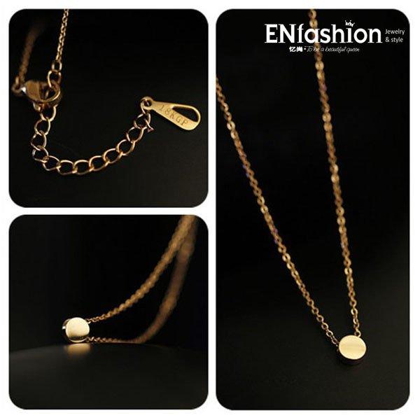 kgp 18 plaqué or mode petit cercle collier femme 316l collier pendentif en acier inoxydable bijoux en gros livraison gratuite
