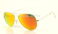 Hot Sell New Style Designer Sunglass Fashion Sunglass Men's/Women's Brand 3025-112/69 Matte Gold Sunglass Fire Iridium Lens 58mm