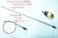 Slim and soft CMET SMA-24 UV Dual Band Antenna 144/430MHz  SMA Male for Yaesu, Vertex Standard, WOUXUN KG-UV8D walkie talkie