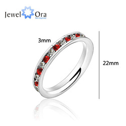wholesale Glamorous 316L Stainless Steel .1CT Channel-Set Eternity Ring, Free Shipping, #RI100196(China (Mainland))
