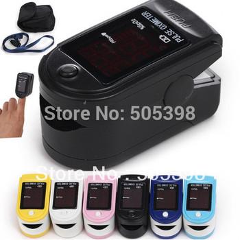 FDA CE Certified Fingertip Pulse Oximeter Spo2 Monitor, CMS50DL Blood Oxygen Saturation Monitor, 6 colours optional