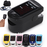 FDA CE Certified Fingertip Pulse Oximeter Spo2 Monitor, CMS50DL Blood Oxygen Saturation Monitor, 6 colours optional
