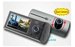 Car video recorder With GPS Logger and Dual Lens camera 140 degree 3D Accelerating G-Sensor X3000(China (Mainland))