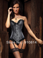 Hot sale Modal Black Sleepwear steampunk corsets Fashion waist training corsets slimming For Women Prom with G-string