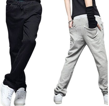 men's Sports trousers Leisure soprt straight pants black/blue/grey colors high quality, Free shipping MKX048