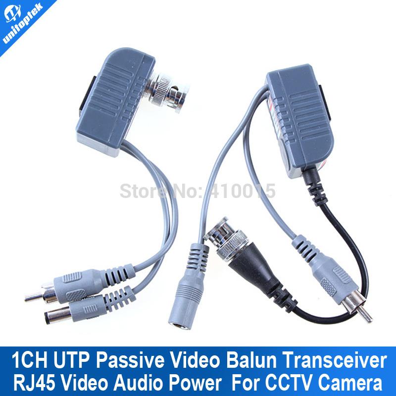 BNC Coax CCTV balun utp rj45 Audio video power Transceiver Cable(China (Mainland))