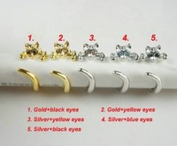 Fashion and personality, Hot sale! 1pcs Promotional Price! Wholesale 2012 New Cat Ring Fashion Finger ring
