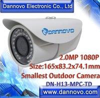 DANNOVO Smallest Outdoor HD 1080P IR 2.0 MegaPixel IP Camera Waterproof MiNi HD Low Light Internet Bullet IP Camera ONVIF,Audio