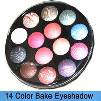 Free Shipping! New Pro 14 *2 Color Bake mineral Wet/Dry glitter Shimmer Makeup Eyeshadow blush Palette Cosemtics sets 14B