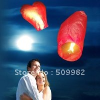 300ps/lot+Free Shipping,Sky Lanterns,Wishing Lamp red love heart SKY LANTERNS for WEDDING/PARTY/wish lanterns,Flying lanterns(China (Mainland))