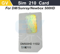 1pc Original SIM2.10 Card for DM500HD DVB-S satellite receiver and DVB-C cable receiverDM500-C free shipping post