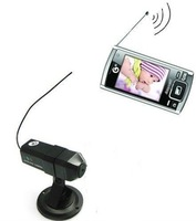 Mini Wireless 8 ChannelsCamera CMOS color camera TV mobile cell phone UHF TV Receiving Function