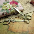 Min.order $10(mix order)Bronze Plated(5PCS) Jewelry Accessory Scissors Pendants(3882#) 24*58 mm