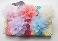 Free Shipping- 5 Colors Crochet Baby Headband Whosesale 24pcs/lot