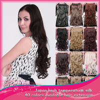 DHL EMS Free Shipping by DHL 20pcs / Lot New Fashion Wavy Curly Curl Clip On Hair Extensions 20 Colors Available Super Quality