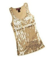 Free shipping 2013 I Q SHOP fashion Sequins vest/ladies have /shiny tops/special offer