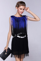 Wholesale/Retail High Ribbons Bow Flower Ladies Evening Dresses, bandage dress, celebrity dress Free Shipping LM3348LS