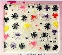 mixed nail art sticker holiday nail sticker skull,Halloween sticker  50/lot free shipping