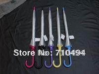 15pcs/lot free DHL shipping 5 colors lace trim transparent umbrella, dome shape umbrella, clear bubble umbrella