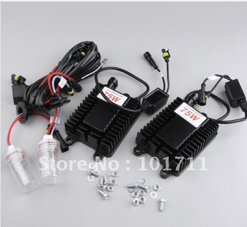 12v75w SUPER BRIGHT Xenon HID H1 6000K Car Headlight Kit(China (Mainland))