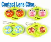 OF023 New Big Shape Bees and Butterfly Contact Lens Case Lenses Box Color Cute Contact lens case Cartoon Glasses box