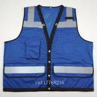 Blue Safety Vest Hi Vis Reflective Vest-Size XS S M L XL 2XL 3XL 4XL