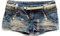 2012 Free shipping zipper paillette ornament pockets shorts for summer free size denim shorts women