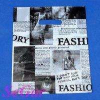 Free Shipping 200 High Quality Plastic Retail Gift Bags Newspaper 25X20cm