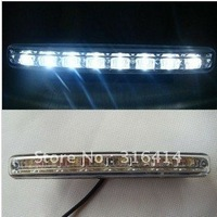 8LED 2pcs automotive LED daytime running lights DRL running White lights fog light installed