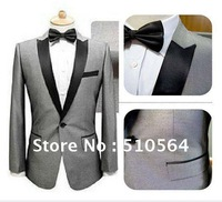 Wholesale Free shipping Custom made men tuxedos Groom Ceremony Evening Party men Suit Groomsman Bridegroom Suits Silk Tuxedos