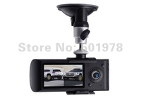 Free shipping GPS car video recorder car camera DVR GPS logger HD 1280x720X3000 dual lens 140 degree freeshipping