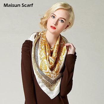 100 Silk Crepe Satin Plain Large Square Scarves 12mm 90 x 90cm brand square scarf