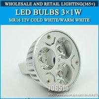 10pcs/lot High power led Bulb Lamp lights MR16 3W Warm White/Cold white DC/AC 12V Free Shipping